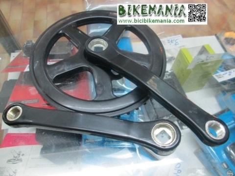 Bicibikemania - bielas un plato acero plastificadas  - bicicletas Bikemania La Felguera Asturias