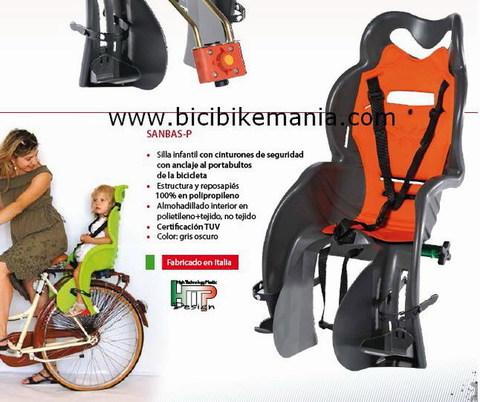 Bicibikemania -  Silla porta bebe Tkx  en porta bultos - bicicletas Bikemania La Felguera Asturias