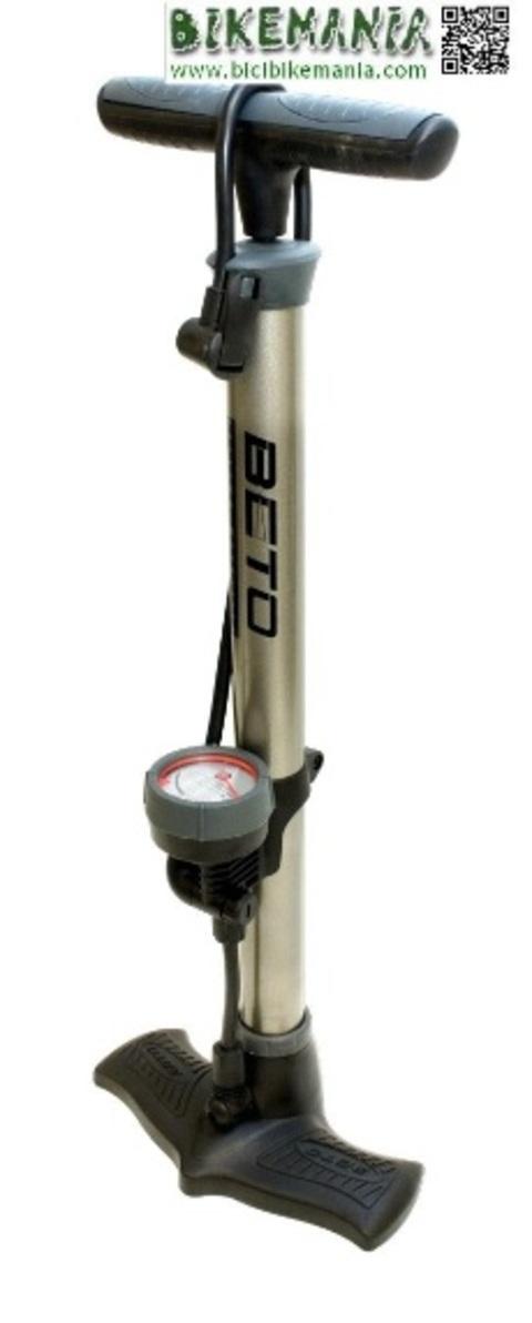 Bicibikemania - bomba hinchador Beto con manometro acero - bicicletas Bikemania La Felguera Asturias