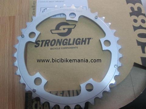 Bicibikemania - plato Strongligh plata  compact 110mm  36 o 38 dientes - bicicletas Bikemania La Felguera Asturias