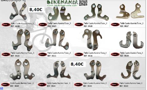 Bicibikemania - patilla de cambio en aluminio - bicicletas Bikemania La Felguera Asturias