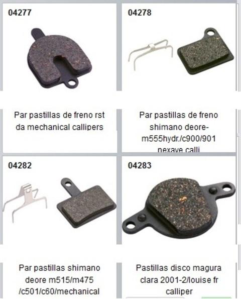 Bicibikemania - pastillas  freno de disco - bicicletas Bikemania La Felguera Asturias