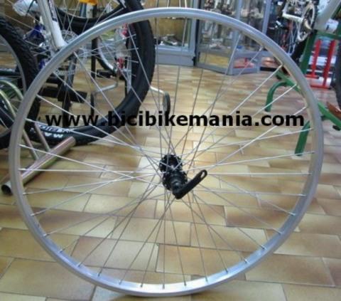 Bicibikemania - rueda delantera 26 Nortech - bicicletas Bikemania La Felguera Asturias