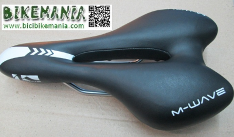 Bicibikemania - sillin M-WAVE O-zone full cut - bicicletas Bikemania La Felguera Asturias