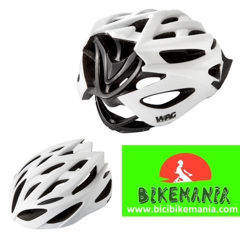 Bicibikemania -  CASCO NEUTRON WAG M BLANCO NEG - bicicletas Bikemania La Felguera Asturias
