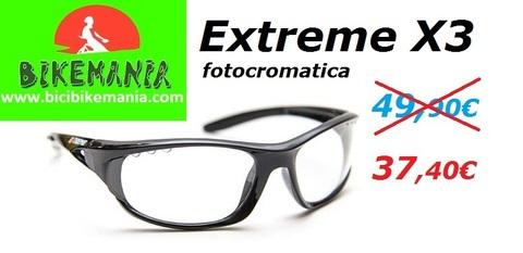 Bicibikemania -  Gafa Exteme X3 fotocromatica - bicicletas Bikemania La Felguera Asturias