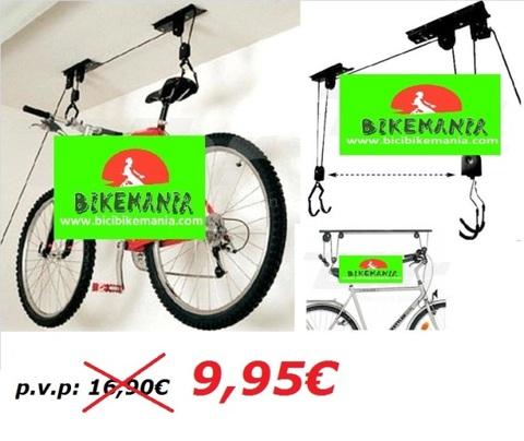 Bicibikemania -  Colgador bicicleta al techo - bicicletas Bikemania La Felguera Asturias