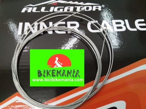 Bicibikemania - Cable Alligator cambio inoxidable  1.1mm 2mts - bicicletas Bikemania La Felguera Asturias