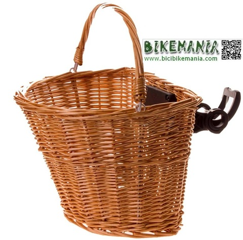 Bicibikemania - Cesta de mimbre natural - bicicletas Bikemania La Felguera Asturias