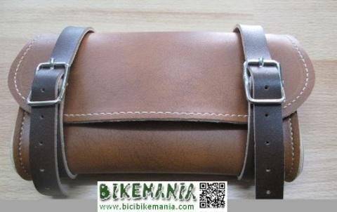 Bicibikemania - Bolsa sillin replica color marron o negra - bicicletas Bikemania La Felguera Asturias