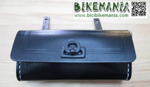 Bicibikemania - bolsa trasera retro sintetica negro - bicicletas Bikemania La Felguera Asturias