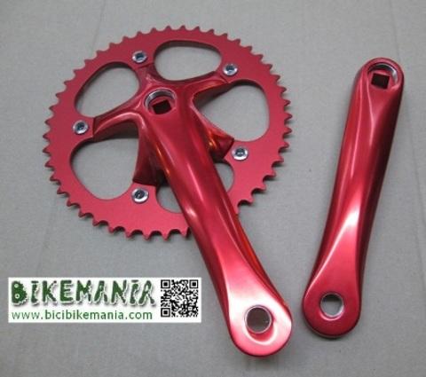 Bicibikemania - bielas Mighty rojo  - bicicletas Bikemania La Felguera Asturias